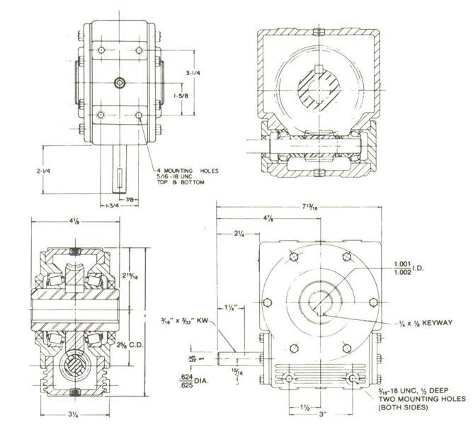 Worm Gear Reducer Model 202 Shaft Mounted Worm Gear