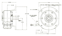 Model 202 with Adapter Plate Flange - Dimensional Drawing