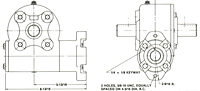 "Model 412 and 418 SAE 2 Bolt ""A"" Flange"