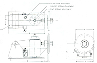Dalton SOS Safety Overload Switch - Dimensional Drawing