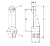 Shaft Mounted Tensioner - Dimensional Drawing